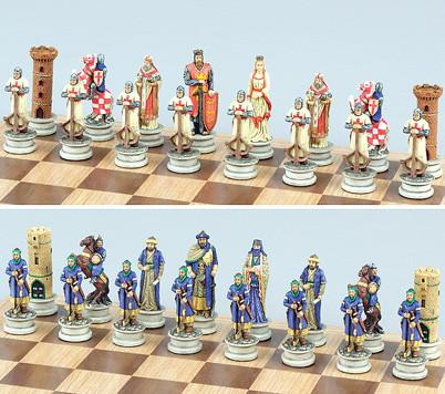 Fame 7611 Crusades Medieval Chess Set Pieces III - Peazz.com