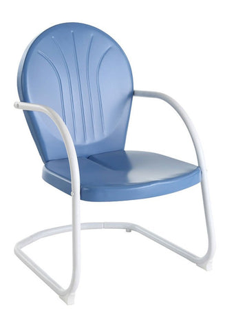 Bayden Hill CO1001A-BL Griffith Metal Chair in Sky Blue Finish - Peazz.com