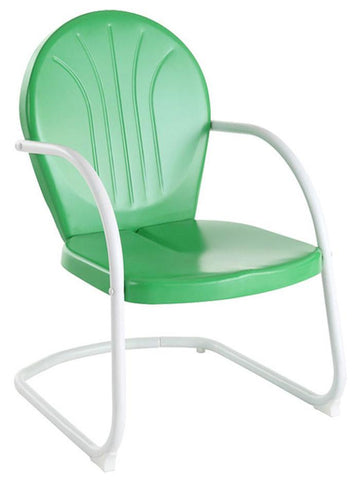 Bayden Hill CO1001A-GR Griffith Metal Chair in Grasshopper Green Finish - Peazz.com