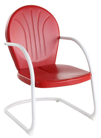 Bayden Hill CO1001A-RE Griffith Metal Chair in Red Finish - Peazz.com
