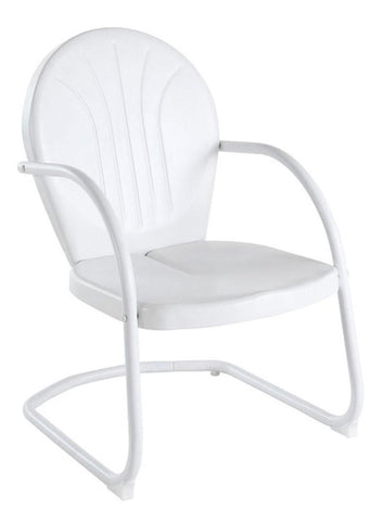 Bayden Hill CO1001A-WH Griffith Metal Chair in White Finish - Peazz.com