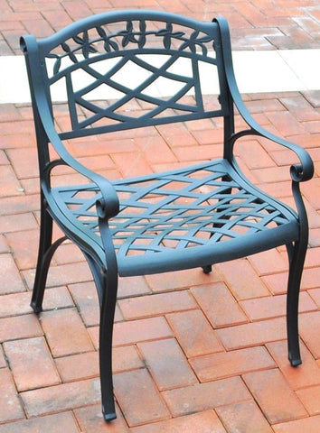 Bayden Hill CO6101-BK Sedona Cast Aluminum Arm Chair in Charcoal Black Finish - Set of 2 - Peazz.com
