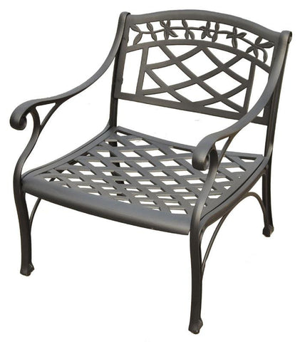 Bayden Hill CO6103-BK Sedona Cast Aluminum Club Chair in Charcoal Black Finish - Peazz.com