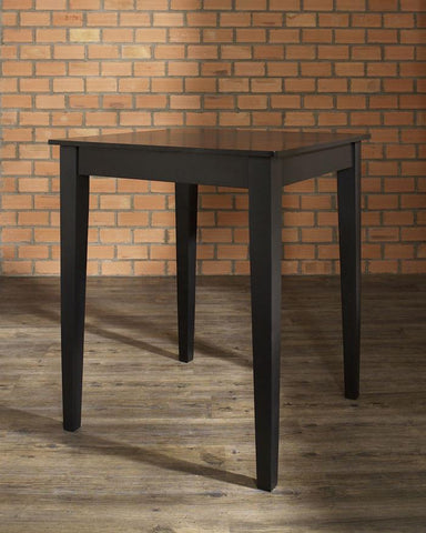 Bayden Hill KD20002BK Tapered Leg Pub Table in Black Finish. - Peazz.com