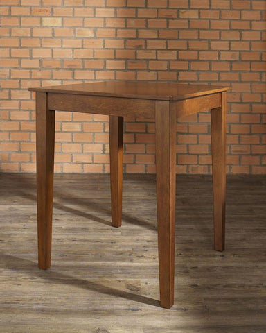Bayden Hill KD20002CH Tapered Leg Pub Table in Classic Cherry Finish. - Peazz.com