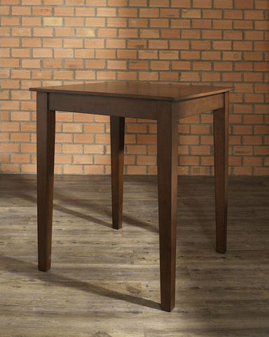 Bayden Hill KD20002MA Tapered Leg Pub Table in Vintage Mahogany Finish. - Peazz.com