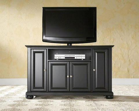 "Bayden Hill KF10002ABK Alexandria 48"" TV Stand in Black Finish - Peazz.com"