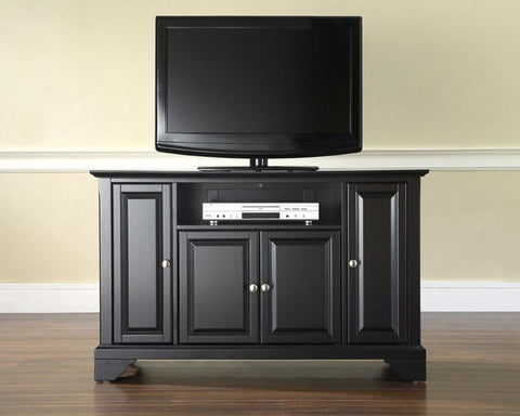 "Bayden Hill KF10002BBK LaFayette 48"" TV Stand in Black Finish - Peazz.com"