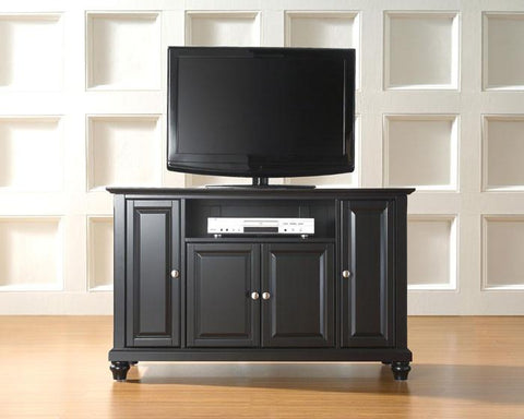 "Bayden Hill KF10002DBK Cambridge 48"" TV Stand in Black Finish - Peazz.com"