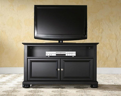 "Bayden Hill KF10003ABK Alexandria 42"" TV Stand in Black Finish - Peazz.com"