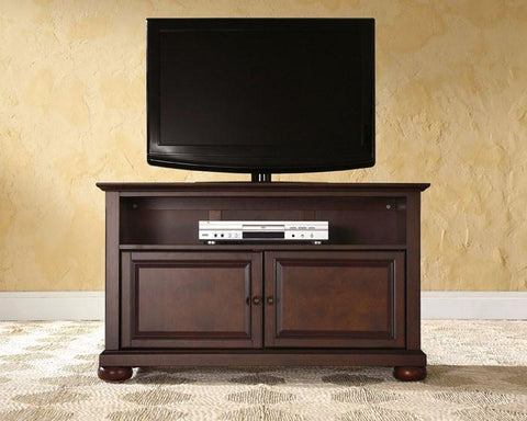 "Bayden Hill KF10003AMA Alexandria 42"" TV Stand in Vintage Mahogany Finish - Peazz.com"