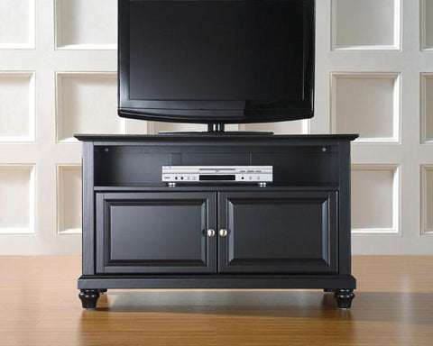 "Bayden Hill KF10003DBK Cambridge 42"" TV Stand in Black Finish - Peazz.com"