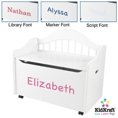 KidKraft Limited Edition Toy Box - White 14101 - Peazz.com