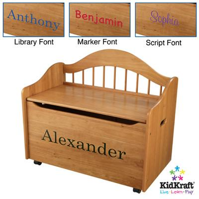 KidKraft Limited Edition Toy Box - Honey 14141 - Peazz.com