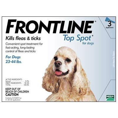 Frontline Top Spot, Dog 23-44 lbs (3 Doses) - Peazz.com