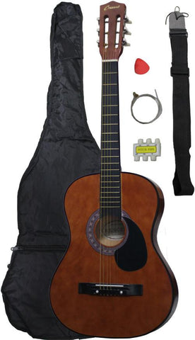 Crescent Direct MG38-CF 38 Inch Coffee Beginner Acoustic Guitar - Peazz.com