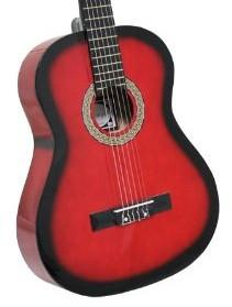 Crescent Direct MG39C-RD Vizcaya by Crescent 39 Inch Red Premium Classical Guitar - Peazz.com
