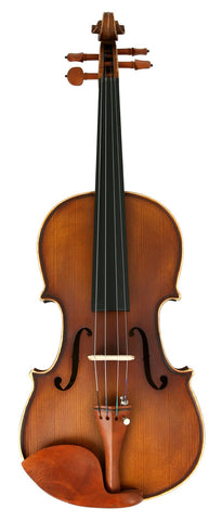 Crescent Direct VL-NR-AW 4/4 Natural Antique Wood Acoustic Violin with Case, Rosin, and B - Peazz.com