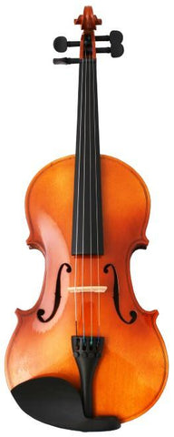 Crescent Direct VL-NR1/2 1/2 Natural Maplewood Acoustic Violin with Case, Rosin, and Bow - Peazz.com