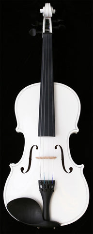 Crescent Direct VL-WT 4/4 White Maplewood Acoustic Violin with Case, Rosin, and Bow - Peazz.com