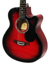 Crescent Direct YMG-RD 41 Inch Red Premium Acoustic Cutaway - Peazz.com