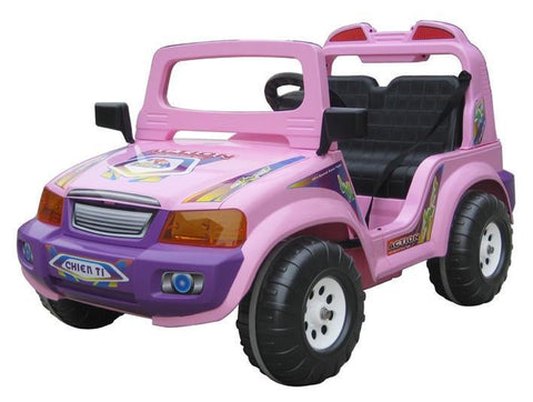 CTM Kids Double Seater Electric Touring Car Pink - Peazz.com