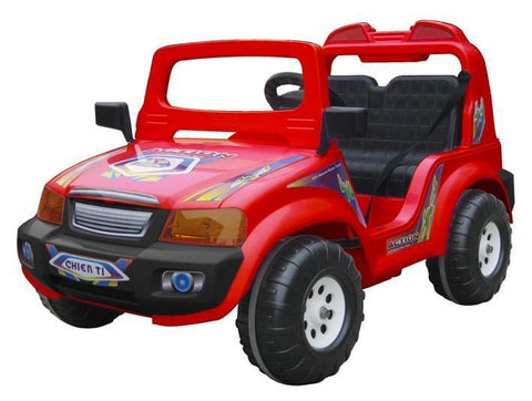 CTM Kids Double Seater Electric Touring Car Red - Peazz.com