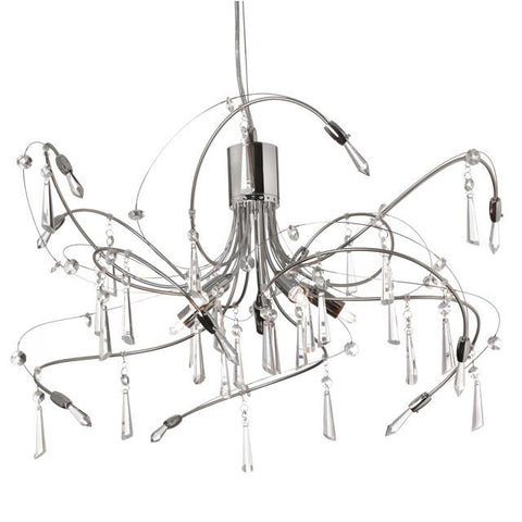 Dainolite 158-19C-PC 5 Light Crystal Chandelier - Peazz.com