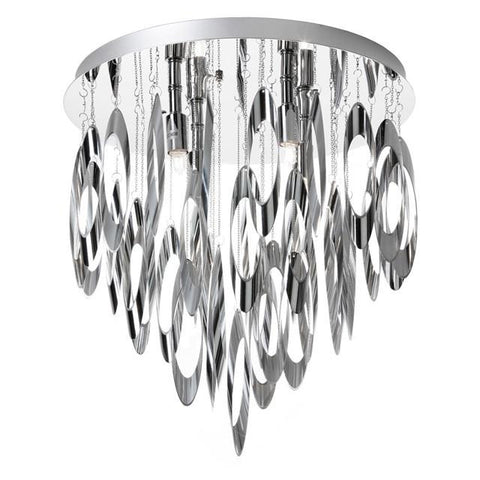 Dainolite ALL-144FH-PC 4 Light Flush Mount Chandelier - Peazz.com