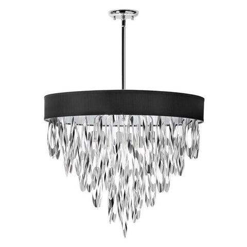 Dainolite ALL-248C-PC-BLK (K)8 Light Chandelier w/BLK Shade - Peazz.com