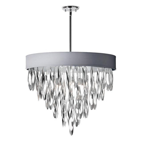 Dainolite ALL-248C-PC-SV (K)8 Light Chandelier w/SV Shade - Peazz.com