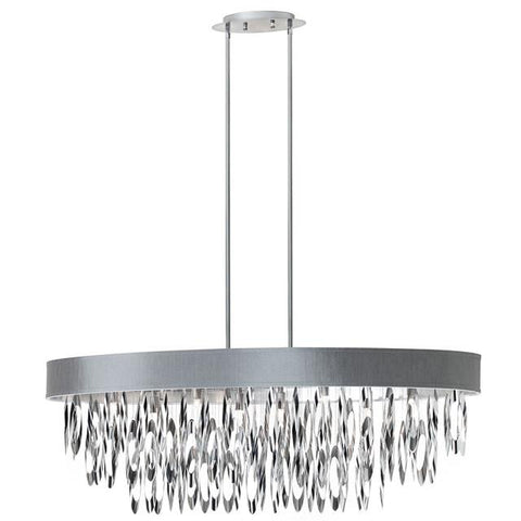 Dainolite ALL-438C-PC-SV (K)8 Light Oval Chandelier w/SV Shade - Peazz.com