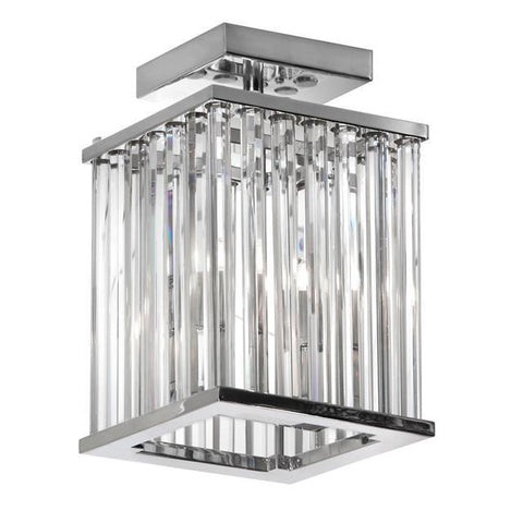 Dainolite ARU-82FH-PC 2 Light Crystal Flush Mount Fixture - Peazz.com