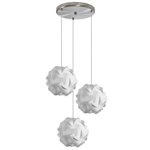 Dainolite DBL-3SR-790 3 Light Globus Small JTone White - Peazz.com