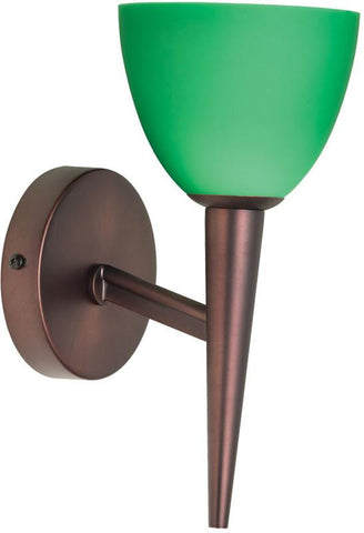 Dainolite Oil Brushed Bronze Wall Lamp Green Glass DLSLW7700-GR-OBB - Peazz.com