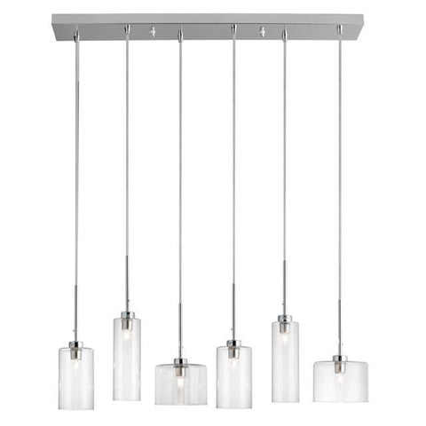 Dainolite IC-286P-PC 6 Light Horizontal Pendant - Peazz.com