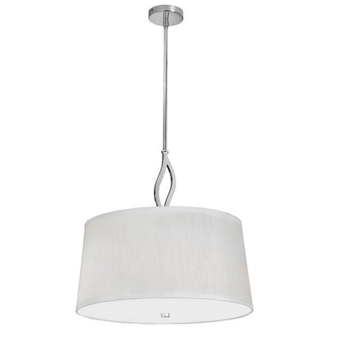 Dainolite LOT-193P-PC 3 Light Large Pendant,Ivory Shade - Peazz.com