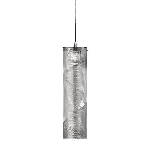 Dainolite UM-1P-PC 1 Light Pendant, Spiral Mesh - Peazz.com