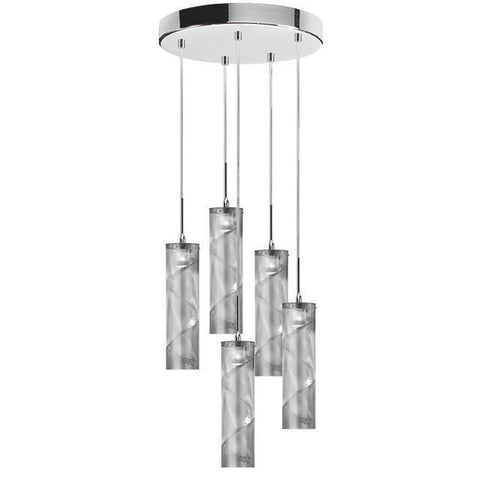 Dainolite UM-20RP-PC (K)5 Light Round Pendant - Peazz.com