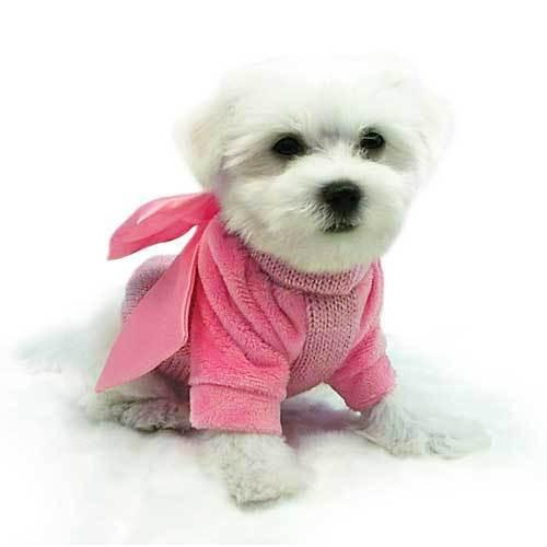 SW Pink bow knit sweater - XS