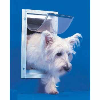 Ideal Pet Door Deluxe White Dog Door Small - Peazz.com