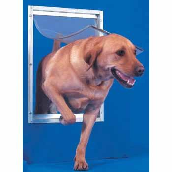Ideal Pet Door Deluxe White Dog Door X-Large - Peazz.com