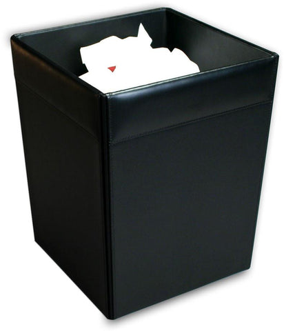 Leather Square Waste Basket A1003 by Decasso - Peazz.com