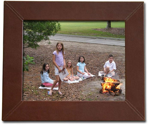 Leather 8x10 Photo Frame A3036 by Decasso - Peazz.com