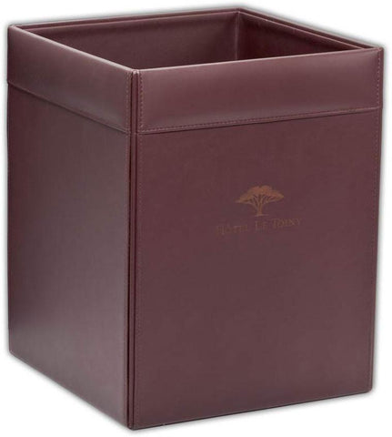 Leather Square Waste Basket A3403 by Decasso - Peazz.com