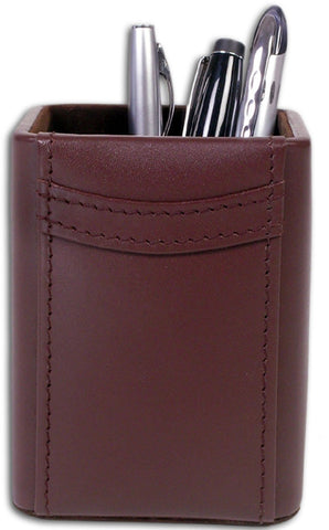 Square Leather Pencil Cup A3410 by Decasso - Peazz.com