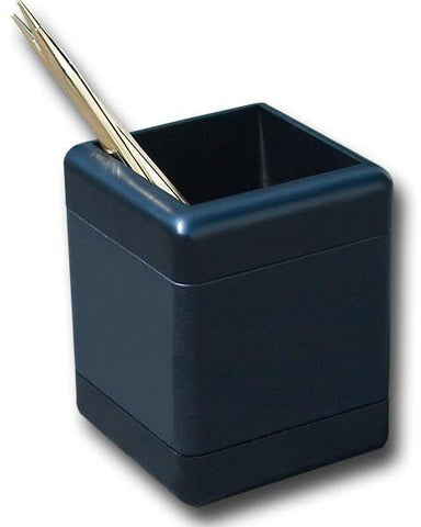 Wood & Leather Pencil Cup A8210 by Decasso - Peazz.com