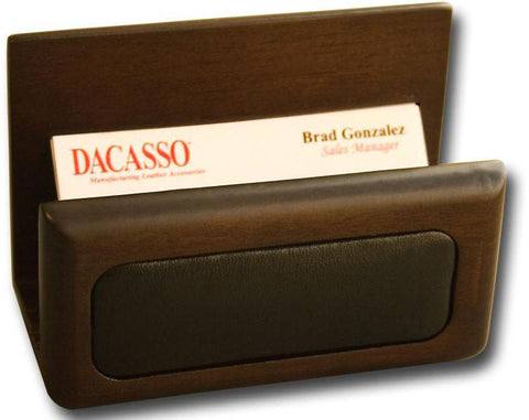 Wood & Leather Business Card Holder A8407 by Decasso - Peazz.com