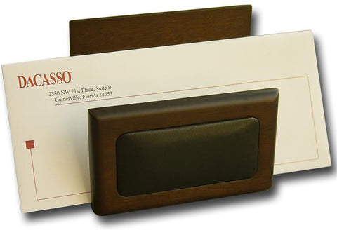 Wood & Leather Letter Holder A8408 by Decasso - Peazz.com