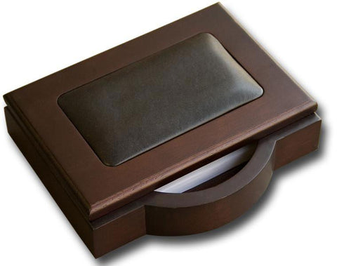 Wood & Leather 4x6 Memo Holder A8409 by Decasso - Peazz.com